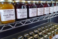 Jam on shelves
